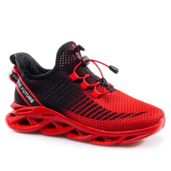 Унисекс Маратонки от Дишащ Текстил в Червено GRAND ATTACK 30870-3 The Core Red
