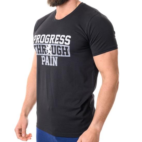 23329-1 Black Мъжка Тениска Progress M-XXL