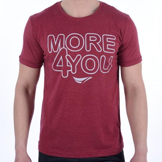 23196-Red Мъжка Тениска