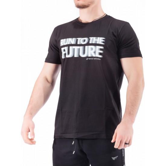 23261-Black Мъжка Тениска